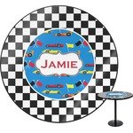 Checkers & Racecars Round Table (Personalized)