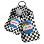 Checkers & Racecars Hand Sanitizer & Keychain Holder (Personalized)