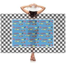 Checkers & Racecars Sheer Sarong (Personalized)
