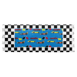Checkers & Racecars Faux Pashmina Shawl (Personalized)