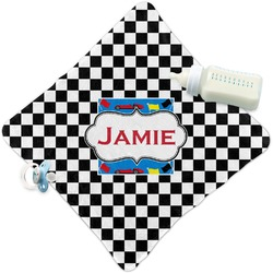 Checkers & Racecars Security Blanket (Personalized)