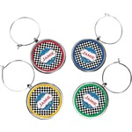 Checkers & Racecars Wine Charms (Set of 4) (Personalized)
