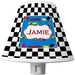 Checkers & Racecars Shade Night Light (Personalized)