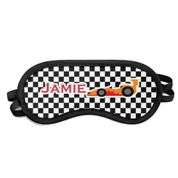 Checkers & Racecars Sleeping Eye Mask - Small (Personalized)