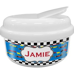 Checkers & Racecars Snack Container (Personalized)