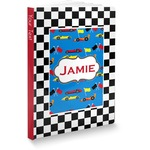 Checkers & Racecars Softbound Notebook (Personalized)