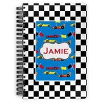 Checkers & Racecars Spiral Bound Notebook (Personalized)
