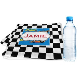 Checkers & Racecars Sports Towel (Personalized)