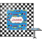 Checkers & Racecars Square Table Top (Personalized)