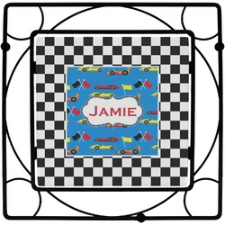 Checkers & Racecars Square Trivet (Personalized)