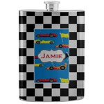Checkers & Racecars Stainless Steel Flask (Personalized)