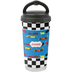 Checkers & Racecars Stainless Steel Travel Mug (Personalized)