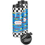 Checkers & Racecars Stainless Steel Skinny Tumbler (Personalized)