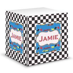 Checkers & Racecars Sticky Note Cube (Personalized)