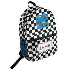 Checkers & Racecars Student Backpack (Personalized)