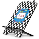 Checkers & Racecars Stylized Tablet Stand (Personalized)