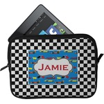 Checkers & Racecars Tablet Case / Sleeve (Personalized)