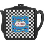 Checkers & Racecars Teapot Trivet (Personalized)