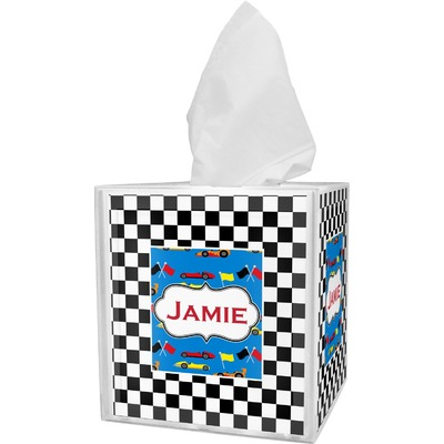 Checkers & Racecars Tissue Box Cover (Personalized)