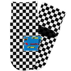 Checkers & Racecars Toddler Ankle Socks (Personalized)