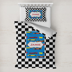 Checkers & Racecars Toddler Bedding w/ Name or Text