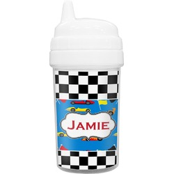 Checkers & Racecars Toddler Sippy Cup (Personalized)