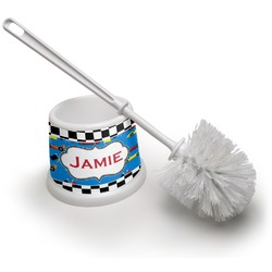 Checkers & Racecars Toilet Brush (Personalized)