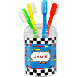 Checkers & Racecars Toothbrush Holder (Personalized)