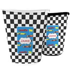 Checkers & Racecars Waste Basket (Personalized)