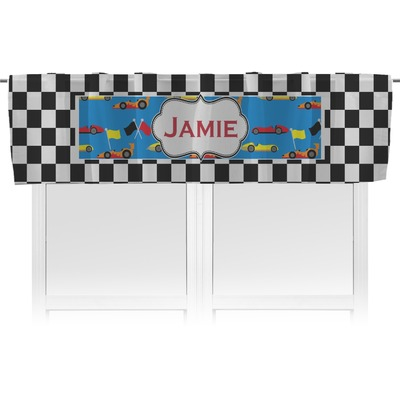 Checkers & Racecars Valance - Unlined (Personalized)