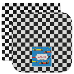 Checkers & Racecars Facecloth / Wash Cloth (Personalized)
