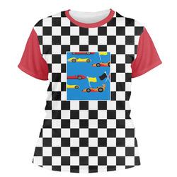 Checkers & Racecars Women's Crew T-Shirt (Personalized)