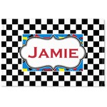 Checkers & Racecars Woven Mat (Personalized)