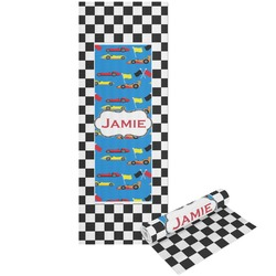 Checkers & Racecars Yoga Mat - Printed Front and Back (Personalized)