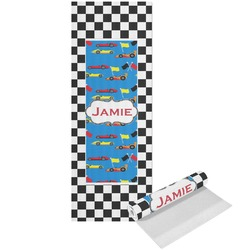 Checkers & Racecars Yoga Mat - Printed Front (Personalized)