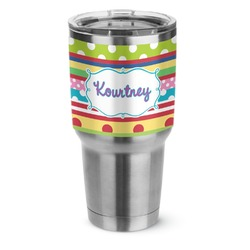 Ribbons Stainless Steel Tumbler - 30 oz (Personalized)