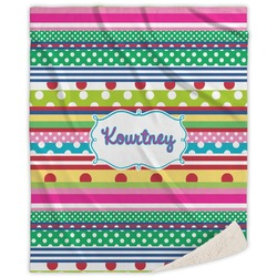 Ribbons Sherpa Throw Blanket (Personalized)
