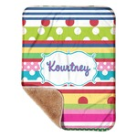 """Ribbons Sherpa Baby Blanket 30"""" x 40"""" (Personalized)"""