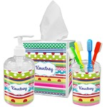Ribbons Bathroom Accessories Set (Personalized)