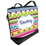 Ribbons Beach Tote Bag (Personalized)