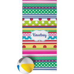 Ribbons Beach Towel (Personalized)