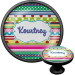 Ribbons Cabinet Knob (Black) (Personalized)