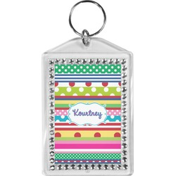 Ribbons Bling Keychain (Personalized)
