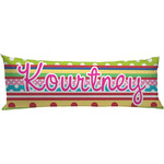 Ribbons Body Pillow Case (Personalized)