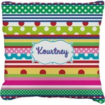 Ribbons Burlap Throw Pillow (Personalized)
