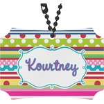 Ribbons Rear View Mirror Ornament (Personalized)