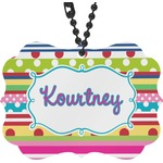 Ribbons Rear View Mirror Charm (Personalized)