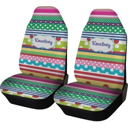 Ribbons Car Seat Covers (Set of Two) (Personalized)