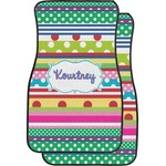 Ribbons Car Floor Mats (Front Seat) (Personalized)