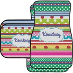 Ribbons Car Floor Mats Set - 2 Front & 2 Back (Personalized)